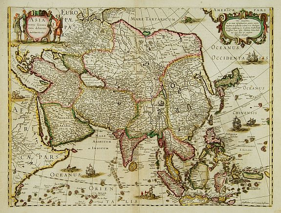 HONDIUS, H. -  ASIA recens summa cura delineata. Auct. Henr. Hondio.