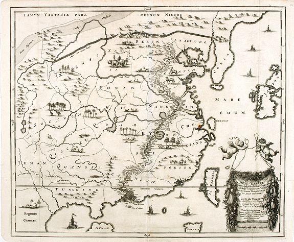 MONTANUS, A. -  Reys-Kaerte vande Ambassade der Nederlandse Oost Indise Compagnie door China aen den Grooten Tartarsen Cham door Johan Nieuhoff. . .