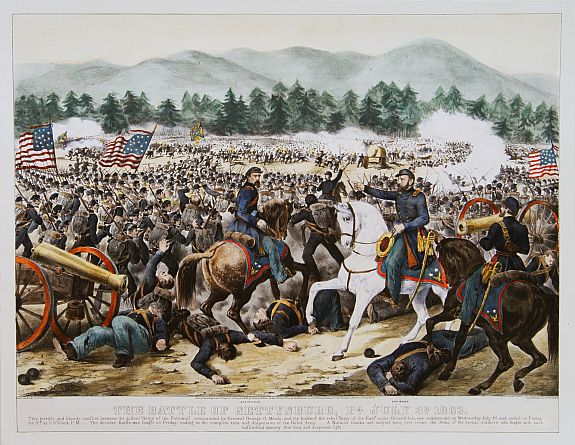 CURRIER / IVES. -The battle of Gettysburg, Pa July 3d 1863.
