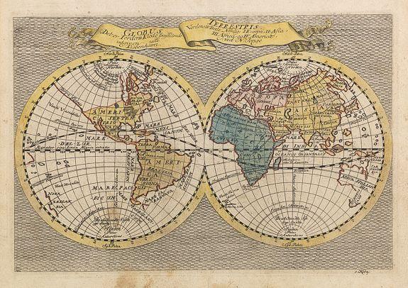 JONGE, N. -  Globus terrestris, det er Jordens Klode forestillende Verdens IV Dele.