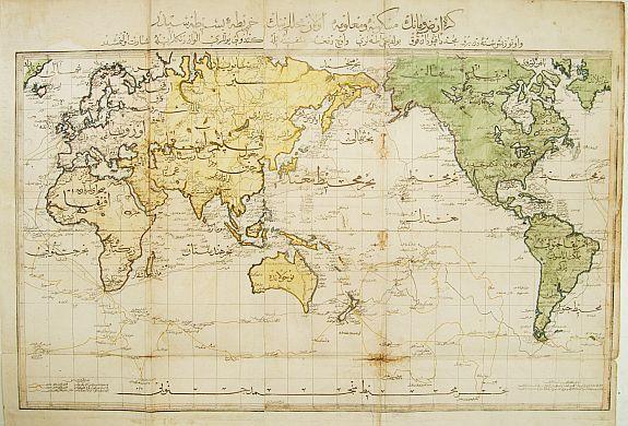 RAIF EFENDI -  World map in Mercator's projection.