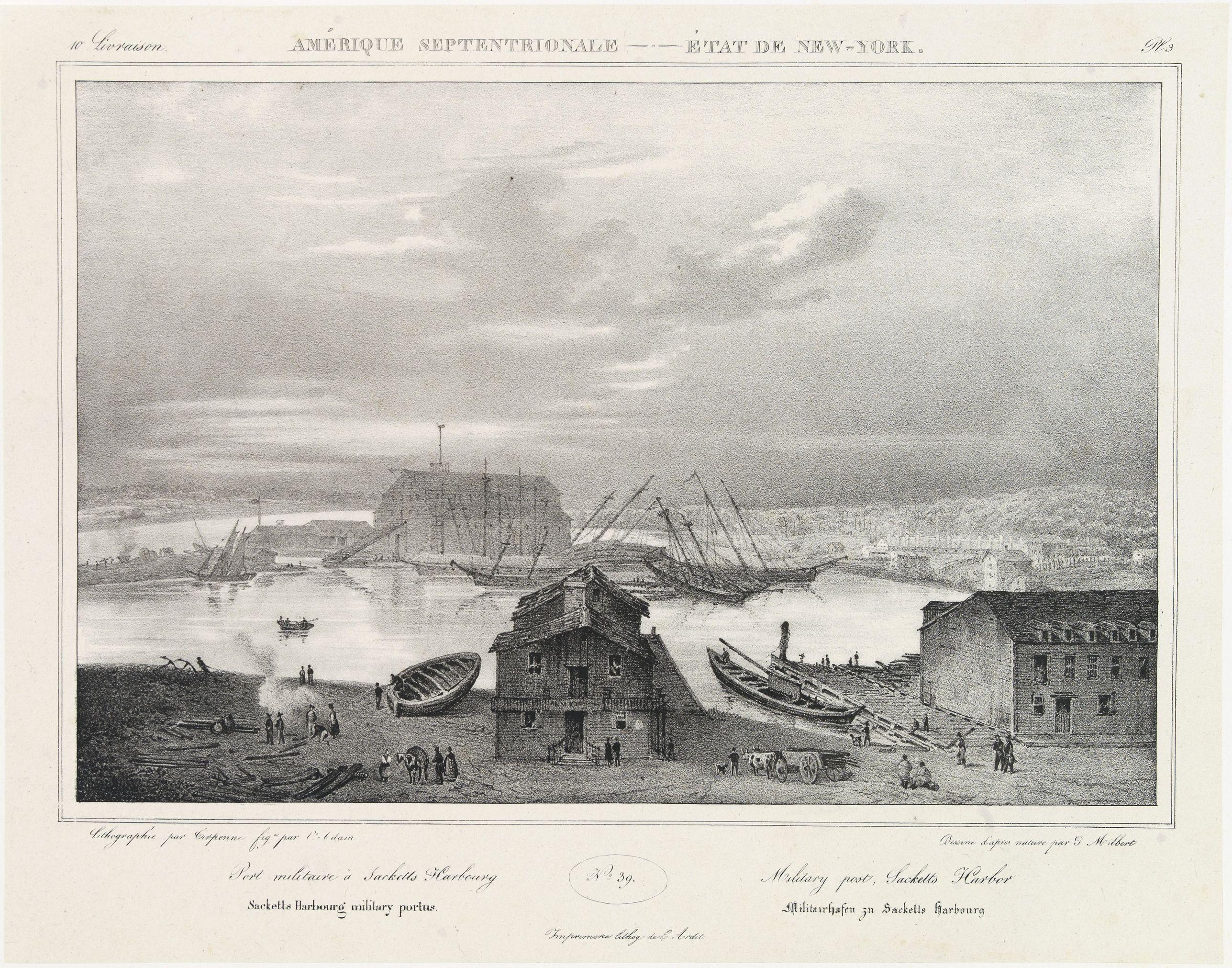 MILBERT, J. -  Military Post , Sacketts harbor.