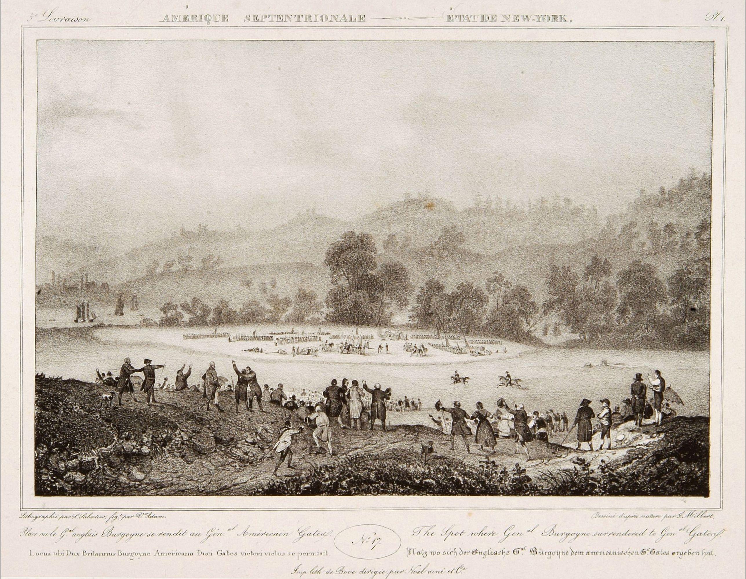 MILBERT, J. -  The spot where General Burgoyne surrendered to General Gates.