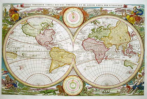 VISSCHER,N. - Orbis Terrarum Tabula..