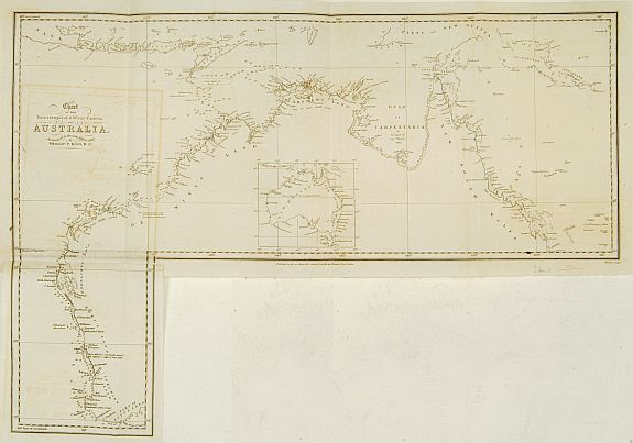 KING -Chart of the intertropical & west coasts of AUSTRALIA