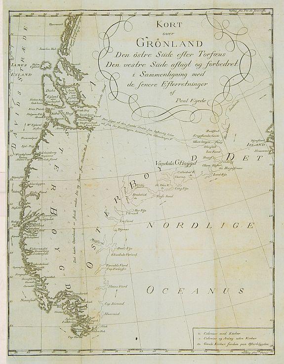 EGEDE,P. - Kort over Gronland ..
