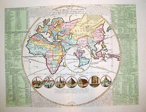 CHATELAIN, H.A. - Plan de l'Histoire universelle, oulon voit les quatre Monarchies du Monde, et tous les Ancien Etats aussi bien que ceux qui subsistent aujourdhuy.