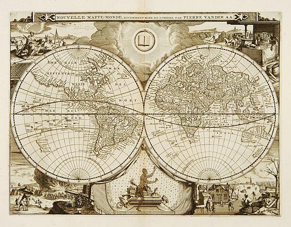 VAN DER AA,P. - Nouvelle Mappe-Monde..