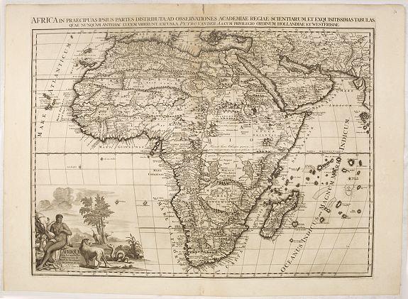 VAN DER AA, P. -  Afrika In Praecipuas Ipsius Partes Distributa Ad Observation . . .