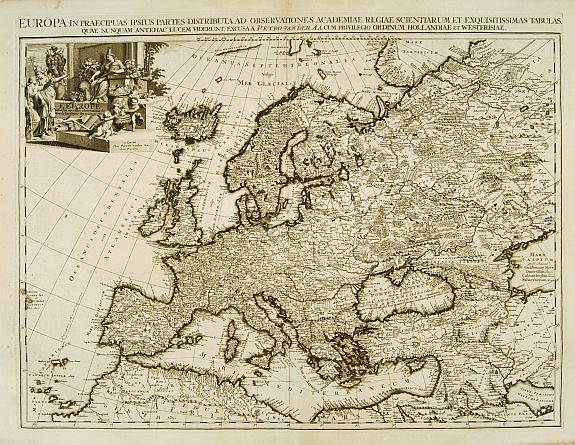 VAN DER AA, P. -  Europa In Praecipuas Ipsius Partes Distributa Ad Observation ..