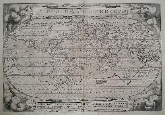 ORTELIUS,A. - Typus Orbis Terrarum/Asiae/Europae/Americae/Africae
