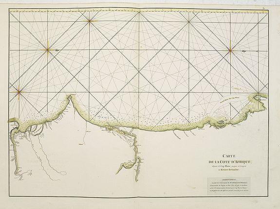 D'APRES DE MANNEVILLETTE. -  Carte de la Côte d'Afrique depuis le Cap Blanc  jusques et Compris la Rivière de Gambie.