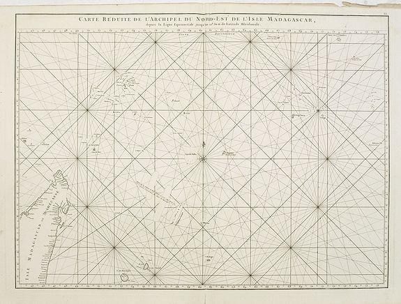 D'APRES DE MANNEVILLETTE. -  Carte réduite de l'Archipel du Nord-Est de l'Ile Madagascar.