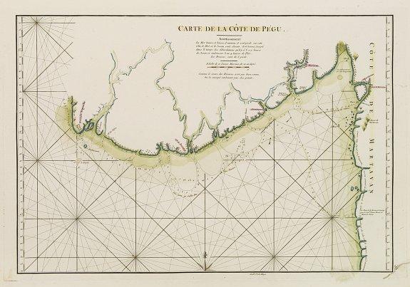 D'APRES DE MANNEVILLETTE. -  Carte de la Côte de Pégu.
