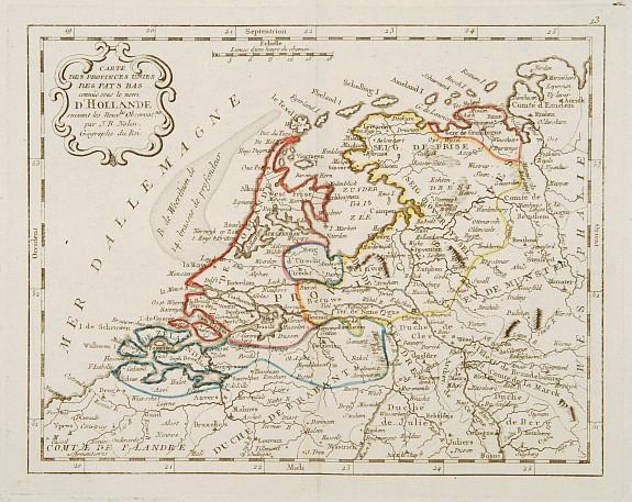 MONDHARE / NOLIN, J.B. -  Carte des Provinces Unies Des Pays-Bas connüe sous le nom D'Hollande ..