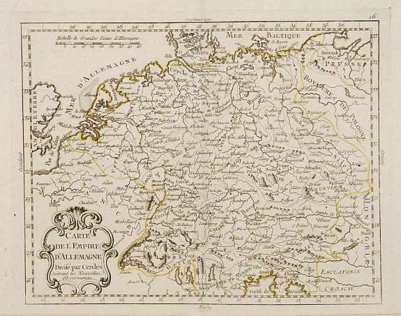MONDHARE / NOLIN,J.B. -  Carte de l'Empire d'Allemagne Divisé par Cercles..