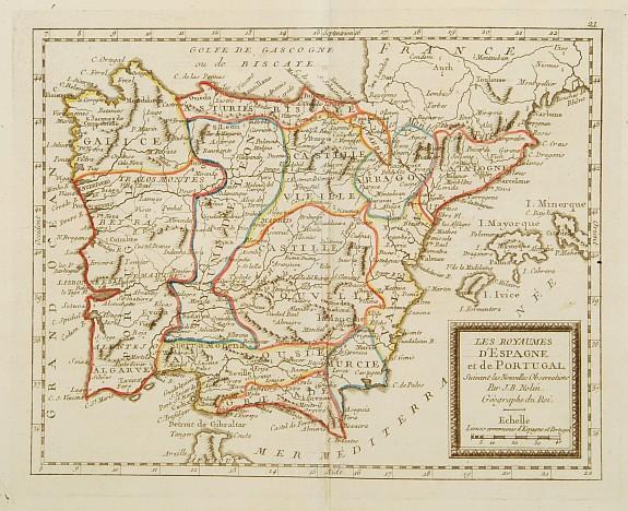 MONDHARE / NOLIN, J.B. -  Les Royaumes d'Espagne et de Portugal ..