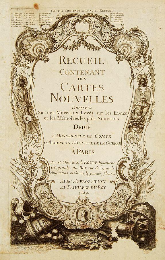 Le ROUGE, G.L. -  (Title page) Recueil Contenant des Cartes Nouvelles Dressées Sur des Morceaux.