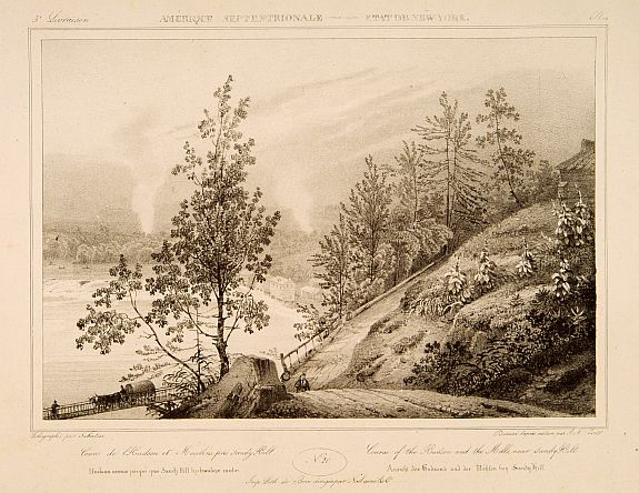 MILBERT, J. -  Course of the Hudson and the Millsnear Sandy Hill.