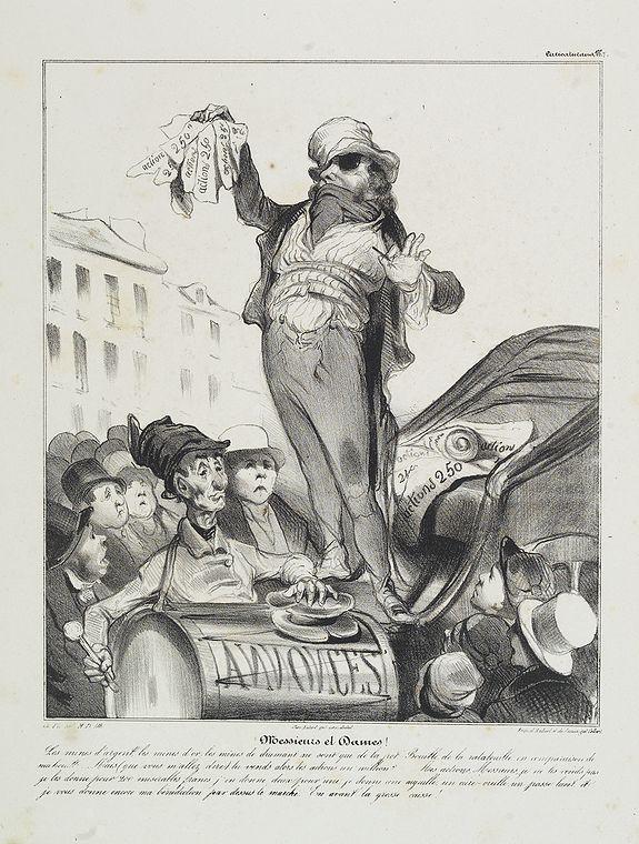 DAUMIER, H. -  Messieurs et Dames! Les mines d'argent . . . (Plate 7 from Caricaturana)