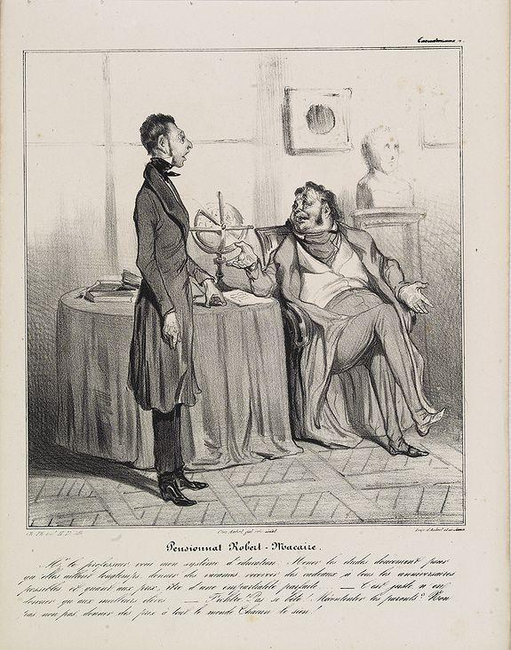 DAUMIER, H. -  [Macaire] Pensionnat Robert-Macaire. Mr le professeur. . . (Plate 4)