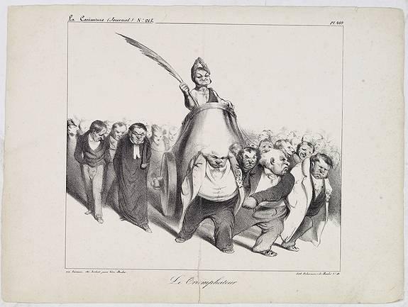 DAUMIER, H. -  Le Triomphateur. (Plate 449 in La Caricature)