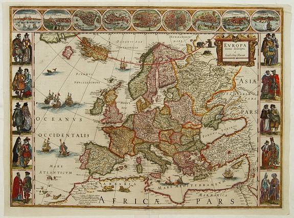 BLAEU, W. - Europa recens descripta a Guilielmo Blaeuw.