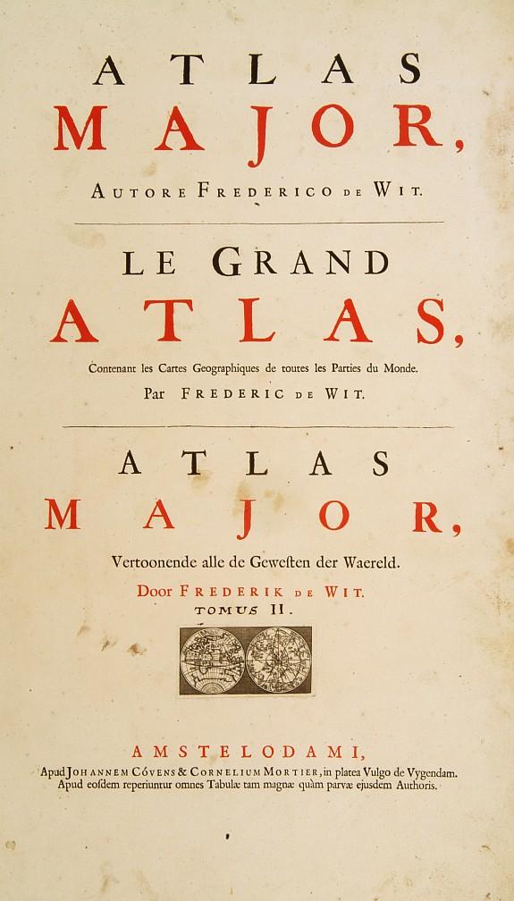 COVENS,J./ MORTIER,C. -  [Title page] Atlas Major F.de Wit.