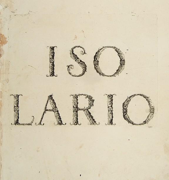 CORONELLI,V.M. -  [Title page] Isolario.