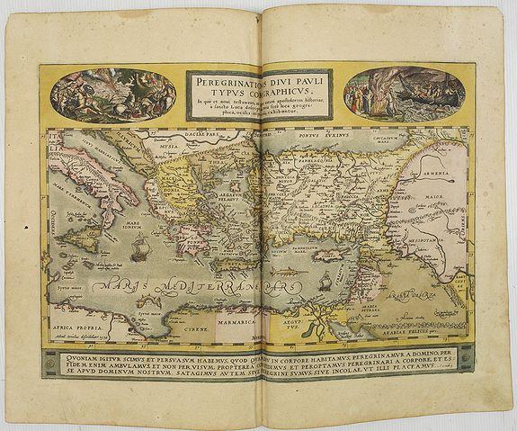 ORTELIUS, A. -  Peregrinationis Divi Pauli Typus..