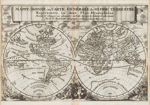 SANSON, N. - Mappe-Monde ou Carte Générale du Globe Terrestre.