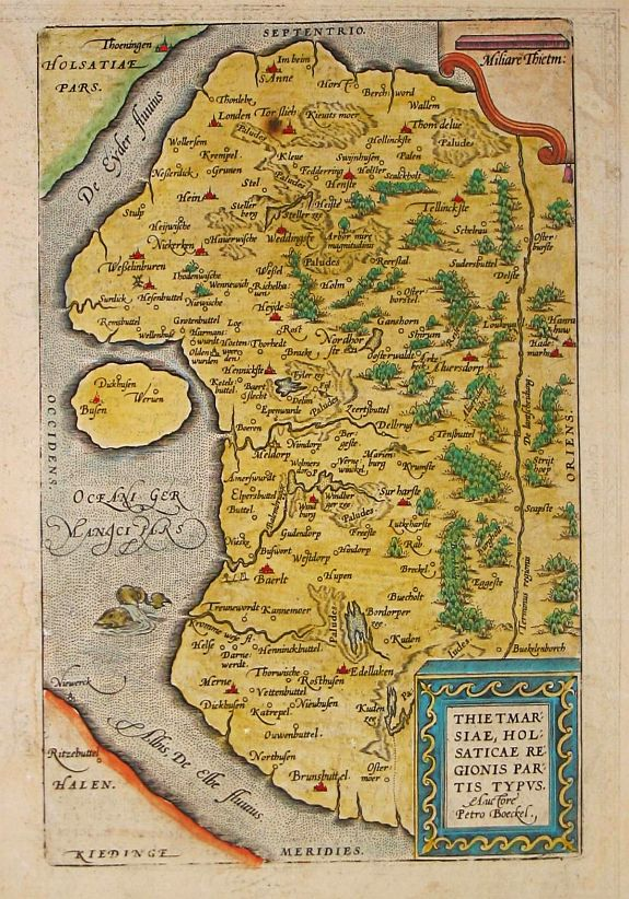 Ortelius, A. - THIETMAR: / SIAE, HOL: / SATICAE RE: / GIONIS PAR: / TIS TYPUS.