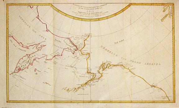 Cook, J. - Kaart van de noord-west kust van Amerika en de noord-oost kust van Asia. Opgenoomen in de Jaaren 1778 en 1779.