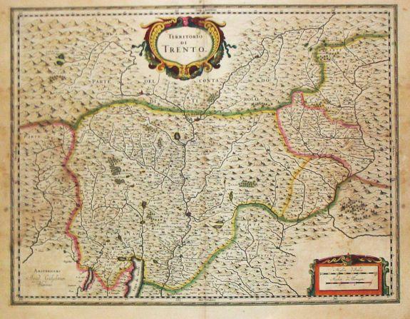 Blaeu, W. - Territorio di Trento.