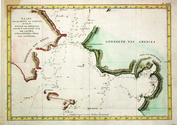 Cook, J. - Kaart van den Mond van Norton en van de Engte van Behring.