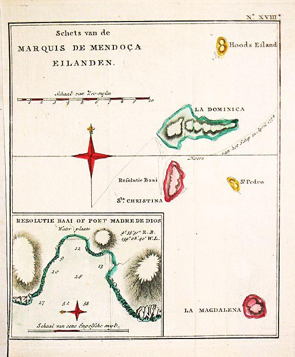Cook, J. - Schets van de Marquis de Mendoca Eilanden.