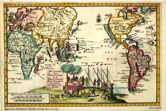 Aa, P. van der. - Zee-Togten door Thomas Candys na de West Indien en van daar rondom den gantzen Arrdkloot gedaan.
