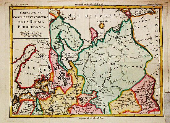 Brion de la Tour, L. - Carte de la Partie Septentrionale de la Russie Euopéenne.