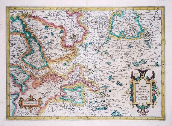 MERCATOR, G. - Berghe Ducatus Marck Comitatus et Coloniensis Dioecesis.
