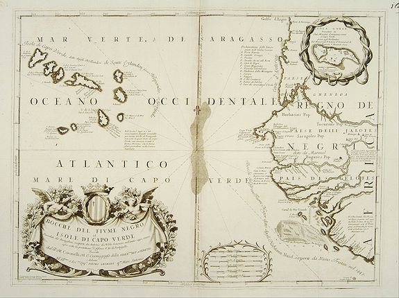 CORONELLI,V.M. -  Bocche del Fiume Negro et Isole di Capo Verde.