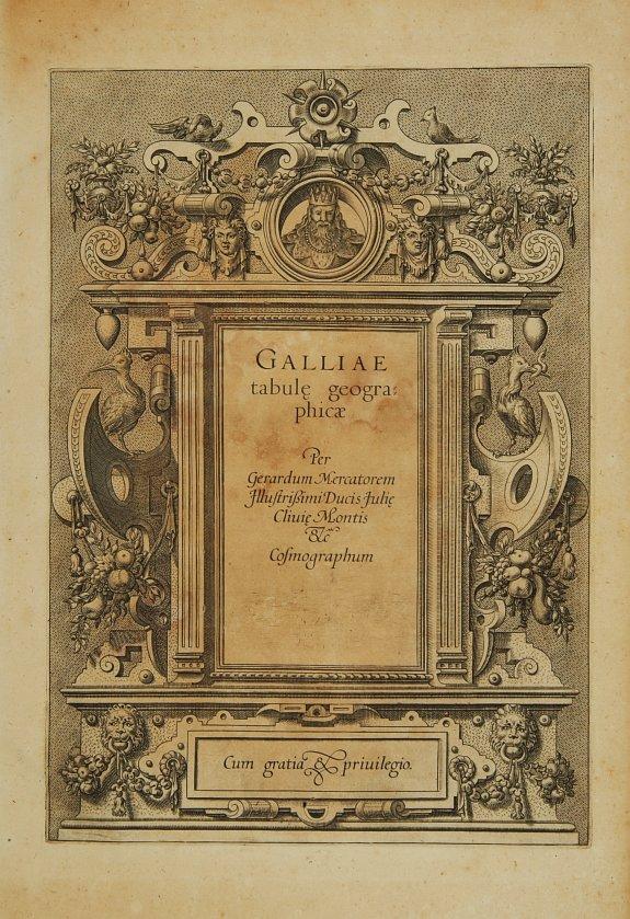 MERCATOR, G./ HONDIUS, J. -  [Titlepage] Galliae tabulae geographicae..