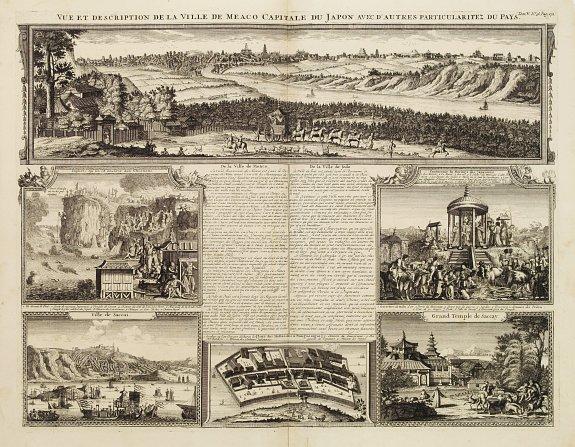 CHATELAIN, H. -  Vue et description de la Ville de Meaco Capitale du Japon. . .