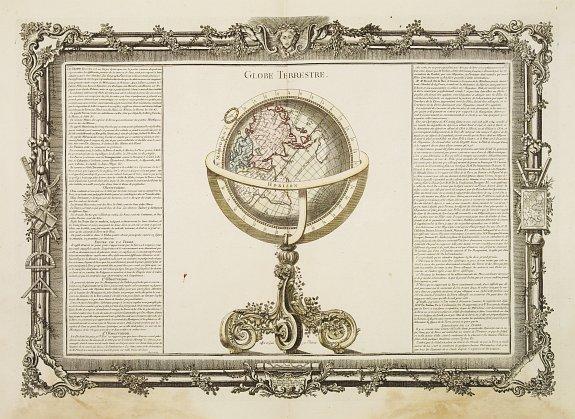 DESNOS,L.C. / DE MORNAS,B. -  Globe Terrestre.