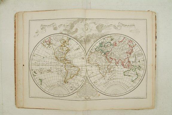 DE L'ISLE,G./ BUACHE,Ph. / DEZAUCHE. - Atlas Géographique des quatre parties du monde par Guillaume de L'Isle et Phil. Buache.