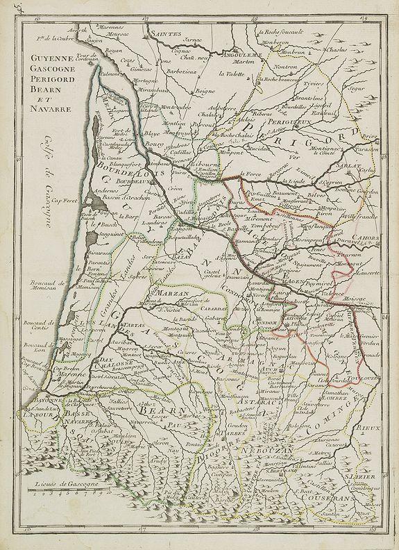 LE ROUGE, G.L. -  Guyenne, Gascogne, Perigord, Bearn et Navarre.