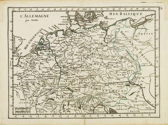 LE ROUGE,G.L. -  L' Allemagne par Postes.