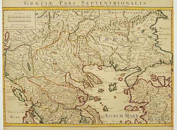 COVENS, J. / MORTIER, C. -  Graeciae Pars Septentrionalis..