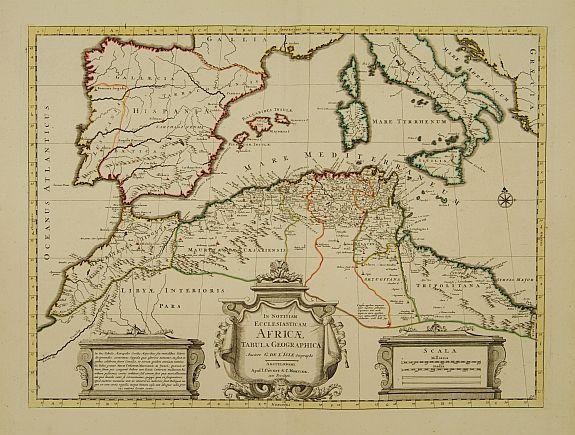 COVENS, J. / MORTIER, C. -  In Notitiam Ecclesiasticam Africae Tabula Geographica.