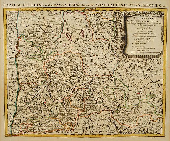 COVENS, J. / MORTIER, C. -  Tabula Delphinatus et vicinarum regionum..