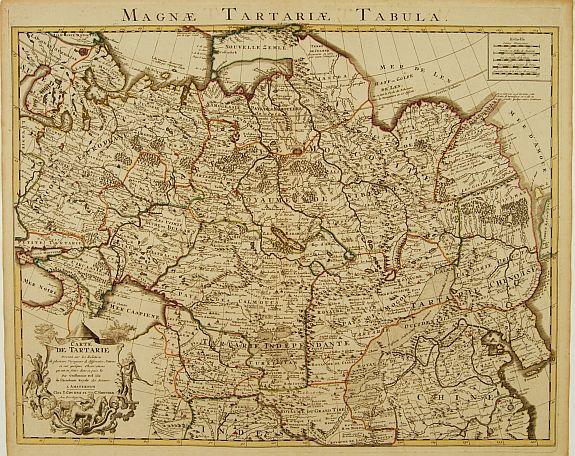 COVENS, J. / MORTIER, C. -  Carte de Tartarie Dressée sur les Relations de plusieurs Voyageurs..